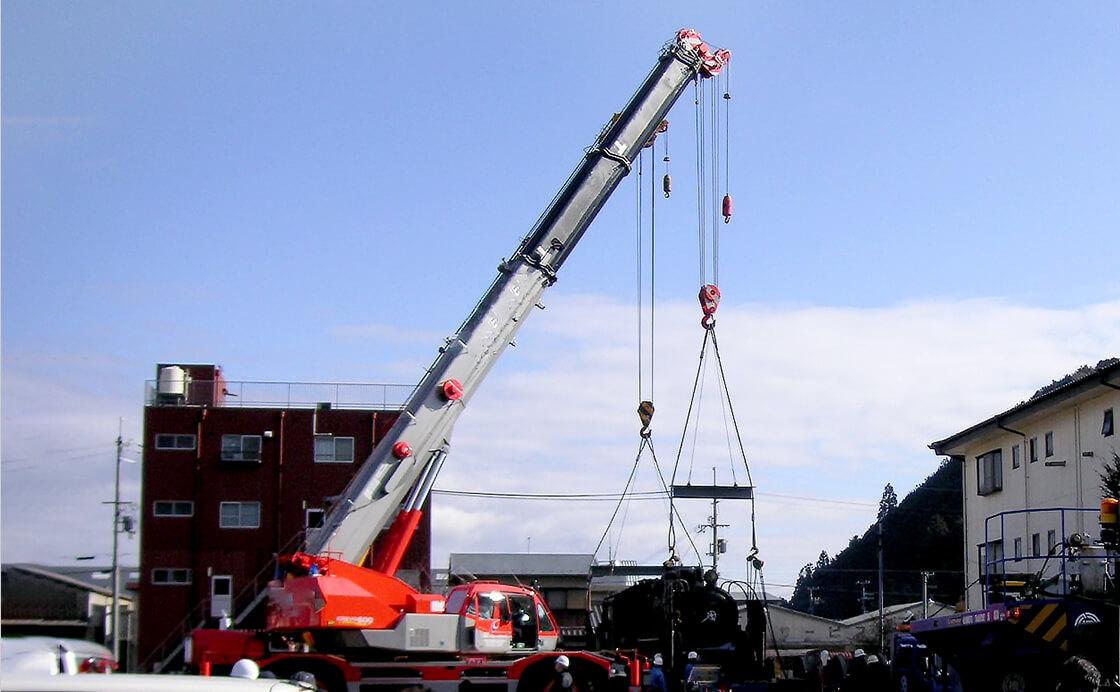 重量物機器据付、撤去工事